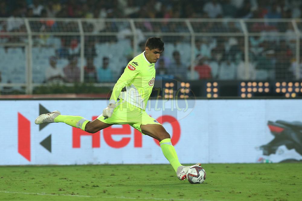 Gurpreet Singh Sandhu, Goalkeeper of Bengaluru FC in action during match 24 of the Hero Indian Super League 2018 ( ISL ) between ATK and Bengaluru FC held at the Yuba Bharati Krirangan stadium (Salt Lake Stadium) in Salt Lake Kolkata, India on the 31st October<br /> <br /> Photo by: Deepak Malik /SPORTZPICS for ISL
