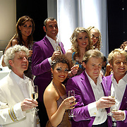 Premiere Songfestival in Concert, cast, Jos Pommer (dirigent), laura Vlasblom, Stephan Stephanou, Brigitte Nijman en Tony Neef