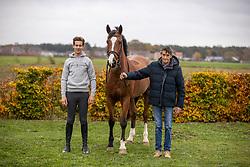 Van Massenhoven Gustaaf, Tormans Martijn, BEL, Origi van't Roosacker<br /> Stoeterij Den Berg - Retie 2020<br /> © Hippo Foto - Dirk Caremans<br /> 17/11/2020