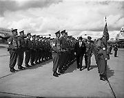 17/08/1960<br /> 08/17/1960<br /> 17 August 1960<br /> Airlift of the 33rd Battalion to the Congo. Taoiseach Sean Lemass and Lt. Col. R.W. Bunworth inspecting the troops at Baldonnel military airport.