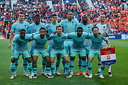 The Netherlands team line up ahead of the UEFA Nations League match between Portugal and Netherlands at Estadio do Dragao, Porto, Portugal on 9 June 2019.