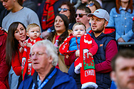 Wales fans during the UEFA European 2020 Qualifier match between Wales and Slovakia at the Cardiff City Stadium, Cardiff, Wales on 24 March 2019.