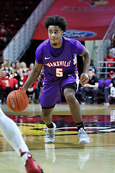 NORMAL, IL - January 05: Shamar Givance during a college basketball game between the ISU Redbirds and the University of Evansville Purple Aces on January 05 2019 at Redbird Arena in Normal, IL. (Photo by Alan Look)