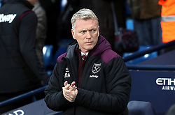 West Ham United Manager David Moyes during the Premier League match at the Etihad Stadium, Manchester.