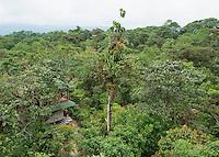 Guest rooms at San Jorge de Milpe Eco-Lodge, Ecuador