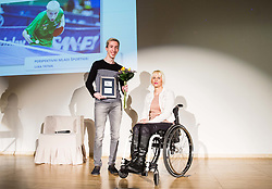 Luka Trtnik and Mateja Pintar during Slovenian Disabled Sports personality of the year 2017 event, on December 6, 2017 in Austria Trend Hotel, Ljubljana, Slovenia. Photo by Vid Ponikvar / Sportida