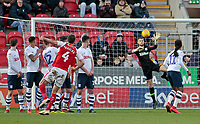 Rotherham United's Will Vaulks watches on as his shot beats Preston North End goalkeeper Preston North End's Declan Rudd to make it 1-0<br /> <br /> Photographer David Shipman/CameraSport<br /> <br /> The EFL Sky Bet Championship - Rotherham United v Preston North End - Tuesday 1st January 2019 - New York Stadium - Rotherham<br /> <br /> World Copyright © 2019 CameraSport. All rights reserved. 43 Linden Ave. Countesthorpe. Leicester. England. LE8 5PG - Tel: +44 (0) 116 277 4147 - admin@camerasport.com - www.camerasport.com