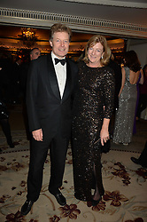 The HON.PETER STANLEY and his wife FRANCES at the 26th Cartier Racing Awards held at The Dorchester, Park Lane, London on 8th November 2016.