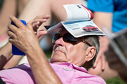 February 25, 2018 - Palm Beach Gardens, Florida, U.S. - A fan by the ninth green during the final round of the Honda Classic at PGA National Resort and Spa in Palm Beach Gardens, Florida on February 25, 2018. (Credit Image: © Allen Eyestone/The Palm Beach Post via ZUMA Wire)