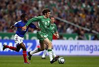 Fotball<br /> VM-kvalifisering<br /> Frankrike v Irland<br /> 9. oktober 2004<br /> Foto: Digitalsport<br /> NORWAY ONLY<br /> KEVIN KILBANE (IRE) / ANTONIO MAVUBA (FRA)