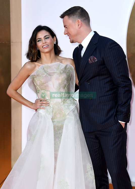 Jenna Dewan and Channing Tatum attending the Kingsman: The Golden Circle World Premiere held at Odeon and Cineworld Cinemas, Leicester Square, London. Picture date: Monday 18th September 2017. Photo credit should read: Doug Peters/Empics Entertainment