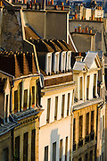 Morning light on houses in the Latin Quarter, Paris, France