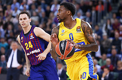 November 1, 2018 - Barcelona, Catalonia, Spain - Hendrick Ray during the match between FC Barcelona and Maccabi Tel Aviv, corresponding to the week 5 of the Euroleague, played at the Palau Blaugrana, on 01 November 2018, in Barcelona, Spain. (Credit Image: © Joan Valls/NurPhoto via ZUMA Press)
