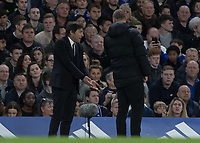 Football - 2016 / 2017 Premier League - Chelsea vs. Manchester City<br /> <br /> The fourth official tells Chelsea Manager Antonio Conte to stay in his technical area at Stamford Bridge.<br /> <br /> COLORSPORT/DANIEL BEARHAM