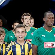 Bursaspor's Hajime Hosogai (C) during their Turkish super league soccer match Fenerbahce between Bursaspor at the Sukru Saracaoglu stadium in Istanbul Turkey on Sunday 20 September 2015. Photo by Aykut AKICI/TURKPIX