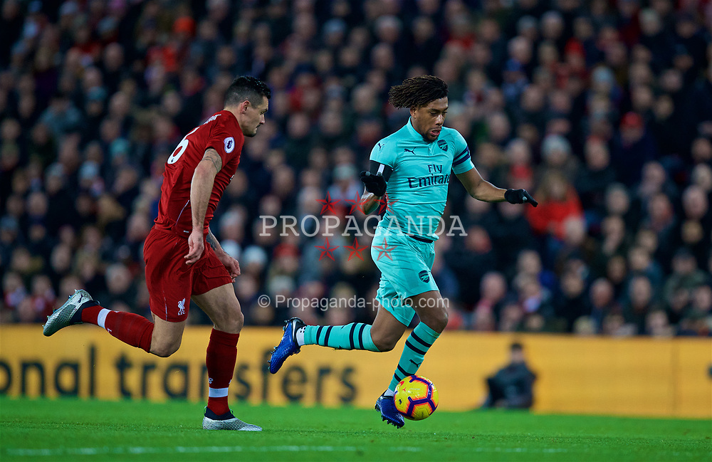 LIVERPOOL, ENGLAND - Saturday, December 29, 2018: Arsenal's Alex Iwobi during the FA Premier League match between Liverpool FC and Arsenal FC at Anfield. (Pic by David Rawcliffe/Propaganda)