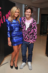 JAZZY DE LISSER and her brother JOSH CRICHTON-STUART at fundraising dinner and auction in aid of Liver Good Life a charity for people with Hepatitis held at Christies, King Street, London on 16th September 2009.