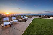 Backyard Sunset View in Riverside California