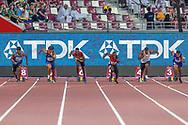 100m Men - Preliminary Round, Heat 4, start, during the 2019 IAAF World Athletics Championships at Khalifa International Stadium, Doha, Qatar on 27 September 2019.