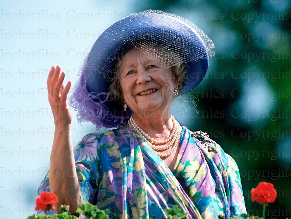 The Queen Mother seen on her 89th birthday at her home Clarence House, London in August 1989.Photographed by Jayne Fincher
