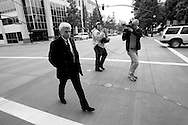 Robert Blake outside of the Burbank Courthouse after a day of final arguments for a civil trial against him filed by the family of Bonnie Lee Blakey, his former wife who was murdered..The family holds him responsible for her murder.