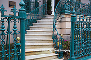 66512-00109 Iron fence and decorations on John Rutledge House Inn Bed & Breakfast, Charleston, SC