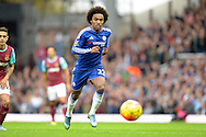 Willian of Chelsea in action. Barclays Premier League, West Ham Utd v Chelsea at The Boleyn Ground, Upton Park in London on Saturday 24th October 2015.<br /> pic by John Patrick Fletcher, Andrew Orchard sports photography.