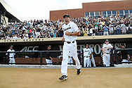 WINSTON-SALEM, NC - JUNE 02: Wake Forest's John McCarren. The Wake Forest Demon Deacons hosted the University of Maryland Baltimore County Retrievers on June 2, 2017, at David F. Couch Ballpark in Winston-Salem, NC in NCAA Division I College Baseball Tournament Winston-Salem Regional Game 2. Wake Forest won the game 11-3.