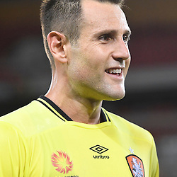 BRISBANE, AUSTRALIA - NOVEMBER 19: Michael Theo of the Roar looks on during the round 7 Hyundai A-League match between the Brisbane Roar and Sydney FC at Suncorp Stadium on November 19, 2016 in Brisbane, Australia. (Photo by Patrick Kearney/Brisbane Roar)