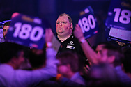John Henderson during the walk-on during the World Darts Championships 2018 at Alexandra Palace, London, United Kingdom on 27 December 2018.