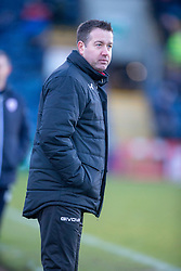 Airdrie's manager Steve Findlay. Raith Rovers 2 v 1 Airdrie, Scottish Football League Division One game played 10/2/2018 at Stark's Park, Kirkcaldy.