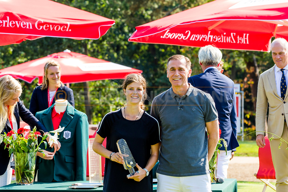 21-07-2018 Pictures of the final day of the Zwitserleven Dutch Junior Open at the Toxandria Golf Club in The Netherlands.21-07-2018 Pictures of the final day of the Zwitserleven Dutch Junior Open at the Toxandria Golf Club in The Netherlands.  Winner SOHIER, Anouk (NL) with Ron van Oijen, president of Zwitserleven