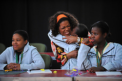 4752<br /> 09.6.17<br /> Oprah Winfrey hugged students when she visited a class during Oprah Winfrey Leadership Academy for Girls' Arts Workshop week, during which the students were given a taste of a variety of disciplines in the arts. The school in Henley-On-Klip, has about 300 pupils from disadvantaged backgrounds, all of whom have shown academic promise.<br /> Picture: Cara Viereckl