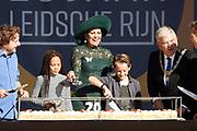 Koningin Maxima tijdens de viering van twintig jaar Leidsche Rijn, de grootste nieuwbouwlocatie van Nederland.<br /> <br /> Queen Maxima during the celebration of twenty years Leidsche Rijn, the largest new construction site in the Netherlands.