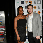 Actress Rachel Adedeji (Hollyoaks) and husband Jason Finegan attends a dinner to raise funds for KIDS, a charity that supports disabled children, young people and their families at Riverbank Park Plaza on 24 November 2018, London, UK.