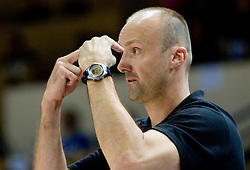 Head coach of Slovenia Jure Zdovc during the basketball match at 1st Round of Eurobasket 2009 in Group C between Slovenia and Serbia, on September 08, 2009 in Arena Torwar, Warsaw, Poland. Slovenia won 84:76. (Photo by Vid Ponikvar / Sportida)