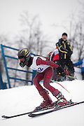 Moscow, Russia, 06/02/2011..Teenage competitors in a Russian ski championship at Moscow's Sparrow Hills Sports Complex.