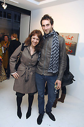 Artists IDRIS KHAN and ANNIE MORRIS at an exhibition of paintings by artist Rene Richard at the Scream Gallery, Bruton Street, London on 3rd April 2008.<br /><br />NON EXCLUSIVE - WORLD RIGHTS
