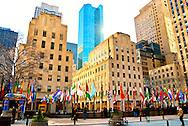Rockefeller Plaza, in Rockefeller Plaza, in Manhattan, New York, City, New York, on January 24, 2012