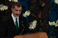 King Felipe of Spain attended the 'Princesa de Asturias Awards 2017 (Princess of Asturias awards)' ceremony at the Campoamor Theater on October 20, 2017 in Oviedo, Spain.