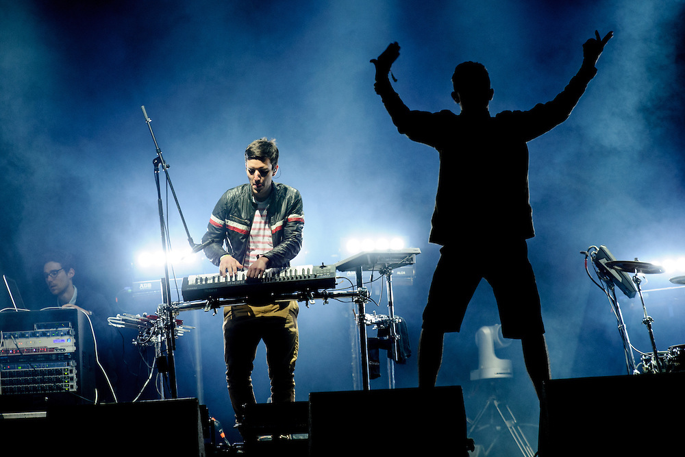 Netsky Live performing live at the Rock A Field Festival in Luxembourg, Europe on June 29, 2013
