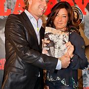 NLD/Amsterdam/20111006 - Lancering Playboy met Amanda Krabbe, met Rutger Castricum