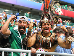 July 2, 2018 - Samara, Russia - July 2, 2018, Russia, Samara, FIFA World Cup 2018, 1/8 finals. Football match of Brazil - Mexico at the stadium Samara - Arena. Fans (Credit Image: © Russian Look via ZUMA Wire)