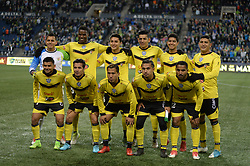March 1, 2018 - Seattle, Washington, U.S - Soccer 2018: The Santa Tecla FC starting eleven as Santa Tecla visits the Seattle Sounders for a CONCACAF match at Century Link Field in Seattle, WA. (Credit Image: © Jeff Halstead via ZUMA Wire)