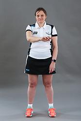 Umpire Rachael Radford signalling incorrect entry to area