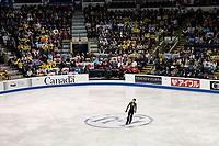 KELOWNA, BC - OCTOBER 26: Fans during the men's long program / free skate of Skate Canada International held at Prospera Place on October 26, 2019 in Kelowna, Canada. (Photo by Marissa Baecker/Shoot the Breeze)