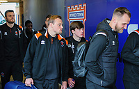 Blackpool's Tony Weston, centre, arrives at the ground with his team-mates<br /> <br /> Photographer Chris Vaughan/CameraSport<br /> <br /> The EFL Sky Bet League One - Ipswich Town v Blackpool - Saturday 23rd November 2019 - Portman Road - Ipswich<br /> <br /> World Copyright © 2019 CameraSport. All rights reserved. 43 Linden Ave. Countesthorpe. Leicester. England. LE8 5PG - Tel: +44 (0) 116 277 4147 - admin@camerasport.com - www.camerasport.com
