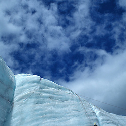 On the Root Glacier, Kennecott, AK. Learning ice climbing on the Root Glacier in Wrangell-St. Elias N.P.