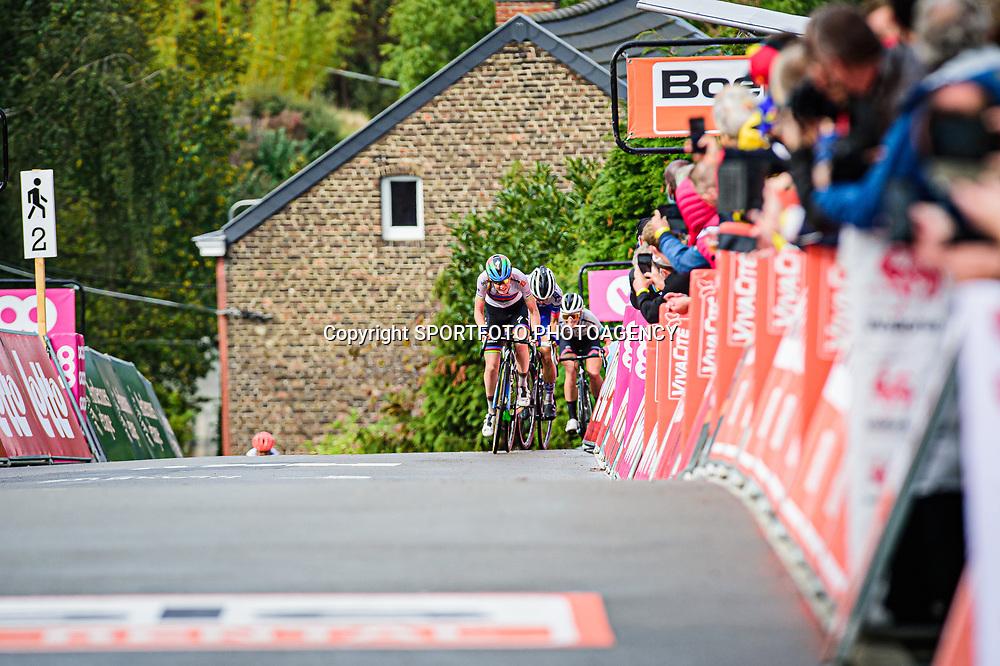 VAN DER BREGGEN Anna ( NED ) – Boels - Dolmans Cycling Team ( DLT ) - NED – LUDWIG Cecilie Uttrup ( DEN ) - FDJ NOUVELLE - AQUITAINE FUTUROSCOPE ( FDJ ) - FRA - Querformat - quer - horizontal - Landscape - Event/Veranstaltung: Flèche Wallonne - Category/Kategorie: Cycling - Road Cycling - Elite Women - Elite Men - Location/Ort: Europe – Belgium - Wallonie - Huy - Start & Finish: Huy - Discipline: Road Cycling - Distance: 202 km - Mens Race - 124 km - Womens Race - Date/Datum: 30.09.2020 – Wednesday - Photographer: © Arne Mill - frontalvision.com30-09-2020: wielrennen: Fleche Walonne; Huy