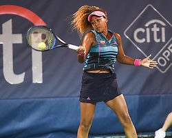 August 2, 2018 - Washington, D.C, U.S - NAOMI OSAKA hits a forehand during her 3rd round match at the Citi Open at the Rock Creek Park Tennis Center in Washington, D.C. (Credit Image: © Kyle Gustafson via ZUMA Wire)